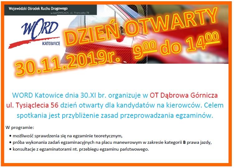 Zdjęcie - Dzień otwarty w Dąbrowie Górniczej 30.11.2019r.